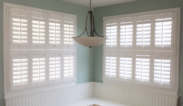 Atlanta plantation shutters in corner